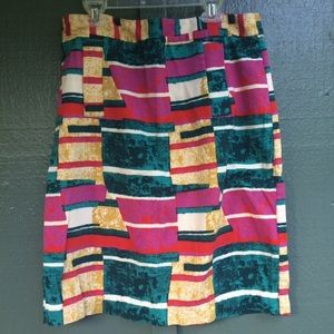 Dolce Vita 90's style abstract pencil skirt